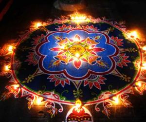 Happy Diwali Kolam - 2