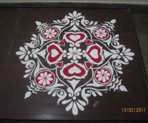 Rangoli: Valentine's Day Alpana