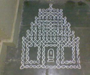 Maa kolam put during Thiruvathirai
