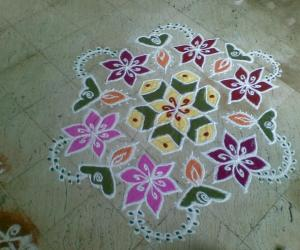 Rangoli: marghali 3rd day