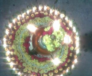 Rangoli: Karthigai Deepam Kolam