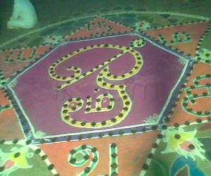 Rangoli: Karthigaideepam Kolam