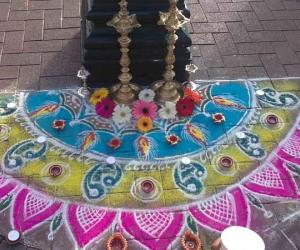 Rangoli display for Diwali in dublin (4)