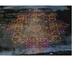 Rangoli: sikku new year kolam