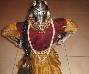 Rangoli: doll