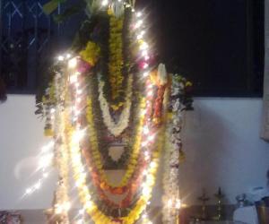Decoration of  Satyanarayana  pooja