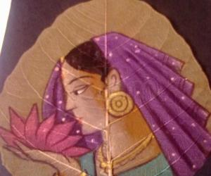Rangoli: Dry leaf painting -3
