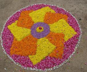 Rangoli: Pookalam at Sarang