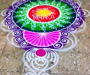Rangoli: Sanskar Bharti Diwali Rangoli