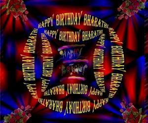 Rangoli: HAPPY  BIRTHDAY  BHARATHI AUNTY