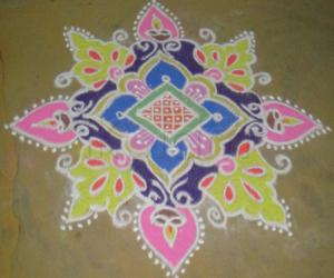 Rangoli: rangoli during boghi
