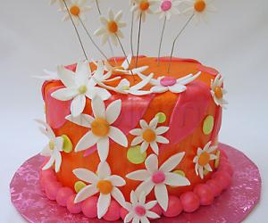 Rangoli: Cake for ummaji and her darling hubby