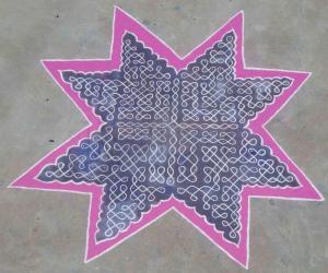 chikku kolam and dot pattern for contest