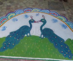 Rangoli: my peacocks - contest
