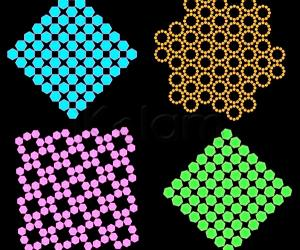 Hexagons arranged a squares