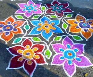 Rangoli: colour full rangoli