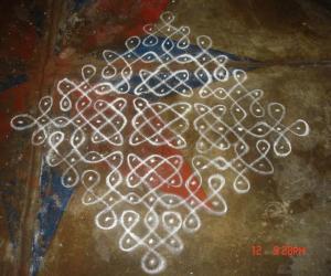 Rangoli: sikku kolam1