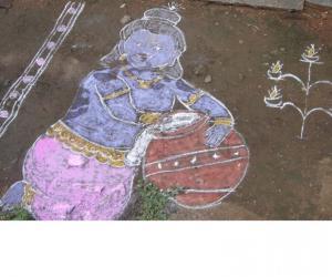 Rangoli: Benne Krishna