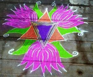 Rangoli: Lotus Rangoli