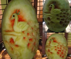 Rangoli: fruit carving