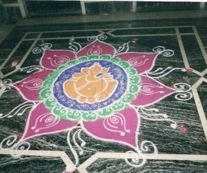 kolam for ganesha festival