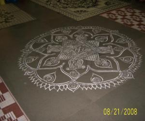My Engagement Kolam