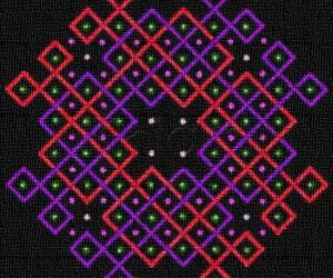 rangOli with 10x10 dots