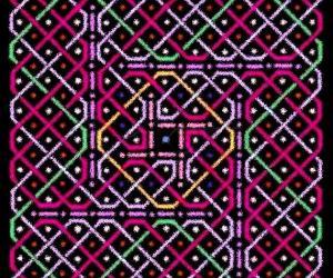 Rangoli: A rangOli with 1 to 21 to 1 dots or 11x11 dots - 2