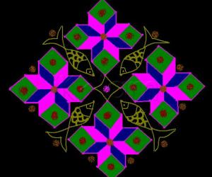 15 to 1 dotted kolam