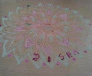 Rangoli: Rangoli done for wishing my darling daughter's birthday (happy birthday to u dear)