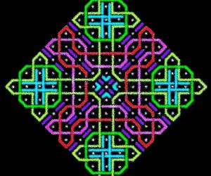 A rangOli with 1 to 15 dots (8x8 dots) - 3