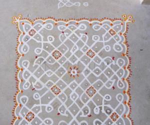 Rangoli: 9x9 Dot Kolam