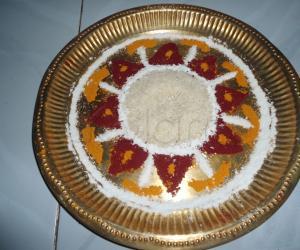 Rangoli: aarti plate