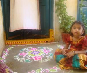 Rangoli: My first rangoli