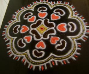 Rangoli: Kidney Kolam