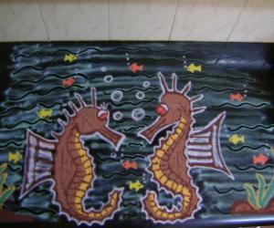 Rangoli: Seahorse