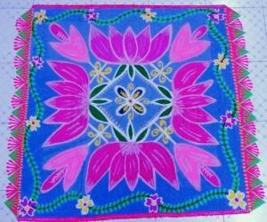 Rangoli: Lotus carpet