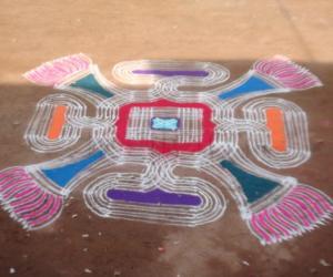 Rangoli with design pattern