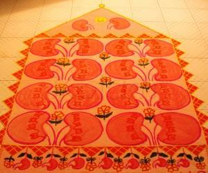 Rangoli: kidney rangoli