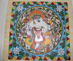 Rangoli: madhubani art