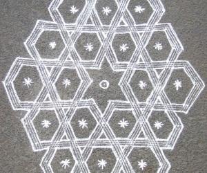 Rangoli: Sona pattern inspired by JKM