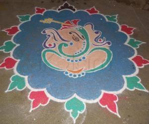 Rangoli: GANESHA KOLAM