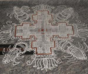 padikolam with kalash