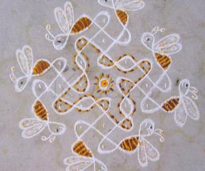 Rangoli: Honey Bees