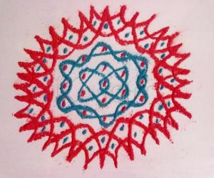 WHITE BOARD KOLAM