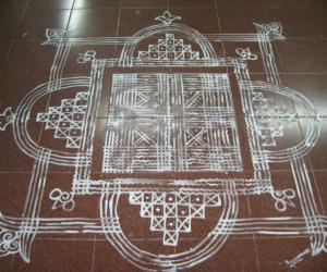 Rangoli: my work 2 -- padi kolam