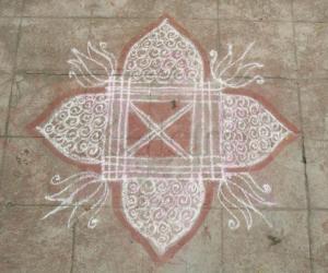 Rangoli: Ganesh Chathurthi kolam 2