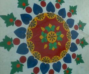 Rangoli: oil paint rangoli