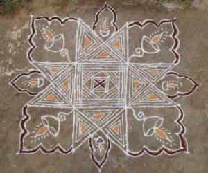 10x10 Padikolam on floor