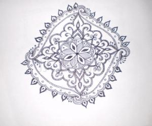 Rangoli: free hand sketch